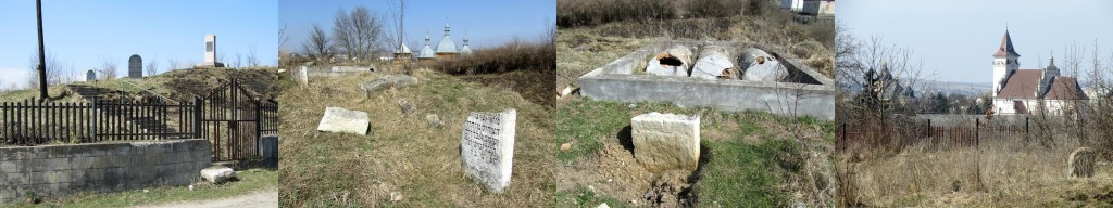 Four views of Rohatyn's old Jewish cemetery