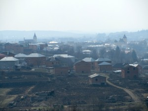 View of Rohatyn from a hill north of town
