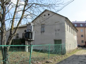 The former synagogue building