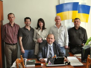 At the Rohatyn Mayor's office, with Ihor and City staff