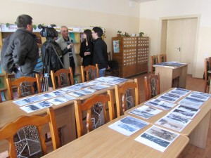 The TV interview proceeds, with many photos and maps brought by Alex Feller