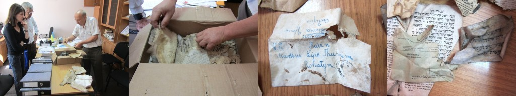 The box of Jewish paper scraps