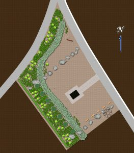 Preliminary concept for the south mass grave memorial