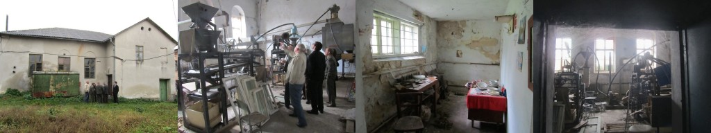 Outside and inside the former synagogue on Valova Street