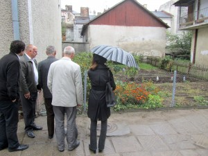 At the garden on Ivan Franko with the Deputy Mayor