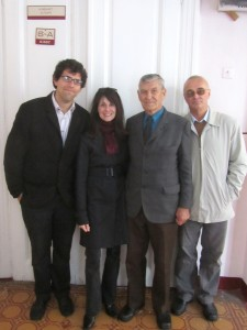 With Mr. Vorobets outside his classroom at the Red School
