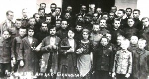 Students and teachers of the Rohatyn gymnasium, 1922