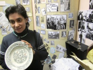 Olga with a treasure in the museum