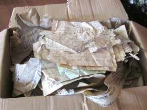 The box of papers, now at Hesed