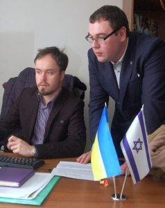 Organizers Vitaliy Nadashkevych and Alexander Nazar