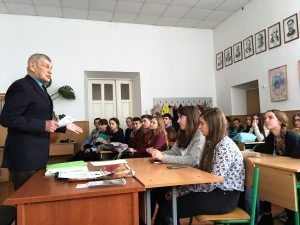 Mr. Vorobets during his lecture