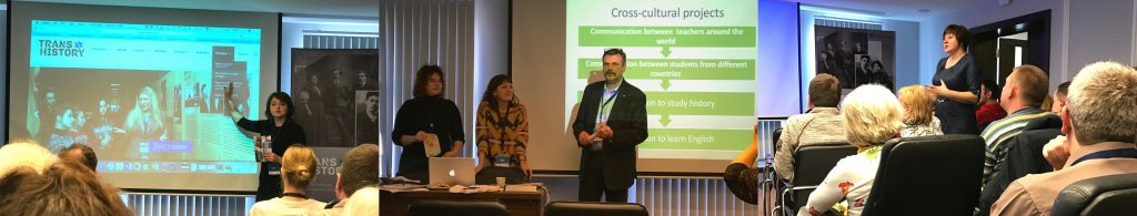 Teachers from around Ukraine and Poland sharing their experiences