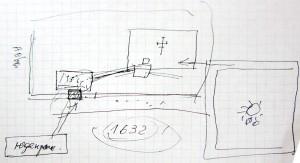 Mr. Vorobets' sketch of the tunnels.