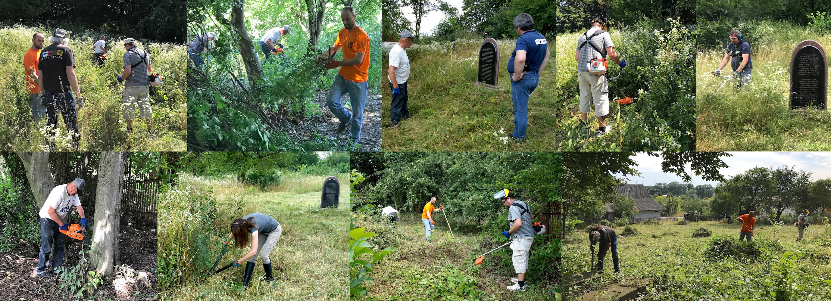 Typical scenes of the activity in the cemetery