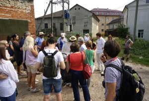 With the group in the old Jewish quarter of Rohatyn