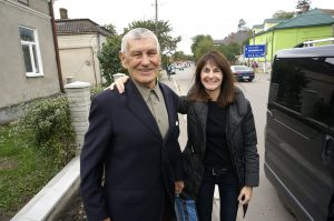 Marla with Mr. Vorobets in town