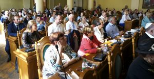 Part of the audience at the event in the Lviv City Council chambers