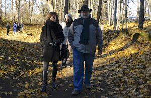 Marla with Steven in the Jewish cemeteries of Vilnius