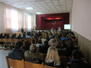 Marla's lecture at the Rohatyn Ukrainian high school