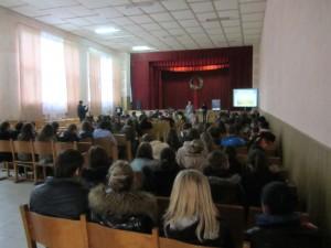 Marla's lecture at the Rohatyn Ukrainian high school