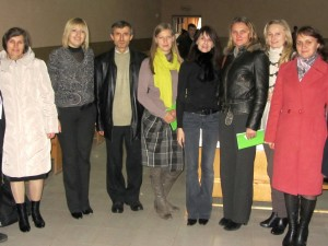Marla with teachers of Rohatyn's high schools