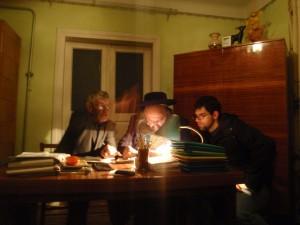 Mr. Vorobets, Rav Gabai, and Abe in Rohatyn