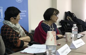 Ms. Kornat explains the Lviv Oblast administration perspective