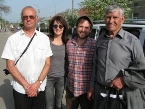 Alex, Marla, Jeremy, and Mr. Vorobets in Rohatyn