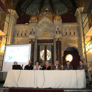 The conference setting and a panel of experts