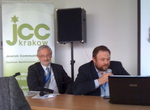 A panel discussion at the Kraków JCC