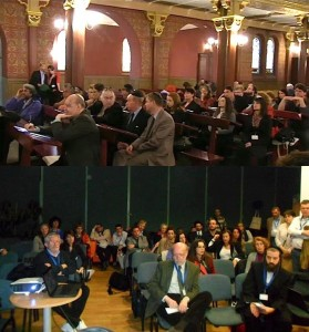 Two views of the conference in session