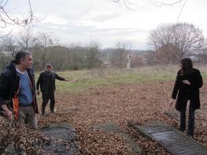 In the new Jewish cemetery with Andrij Bojarov