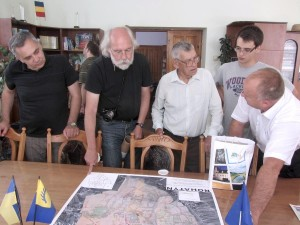 Reviewing the cadastral map in the Mayor's office