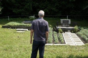 Norberto at the northern mass grave memorial
