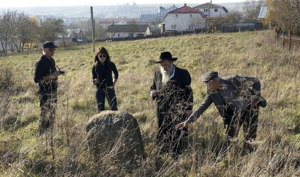 Cemetery site and project concept review with Rabbi Kolesnik and Mikhailo Vorobets; photo © 2014 Jay Osborn.