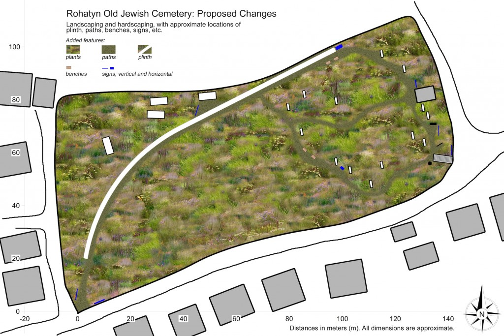 Plan view of Rohatyn's old Jewish cemetery, rehab & memorial concept