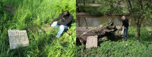 Headstone recovery at the riverside in Rohatyn