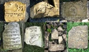 A sample of the many matzevot styles among the recovered stones
