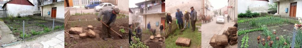 Progress of the excavation in the Ivan Franko street garden