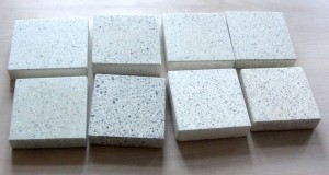 White concrete samples