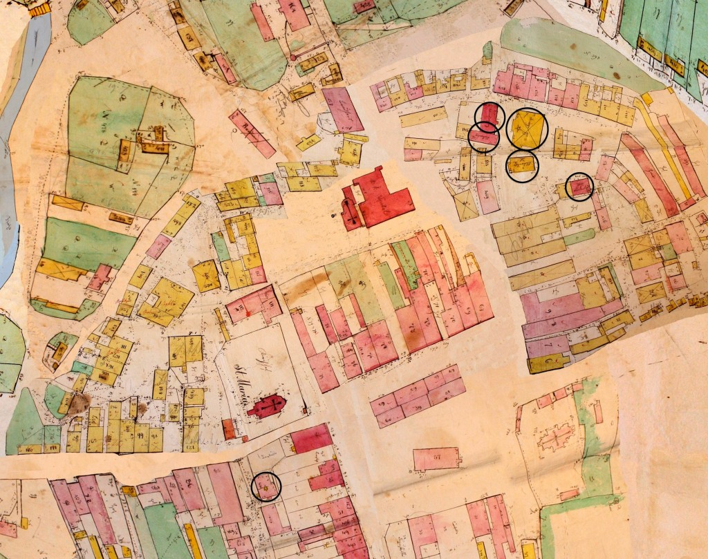 Rohatyn 1846 cadastral field sketch, composite (detail)