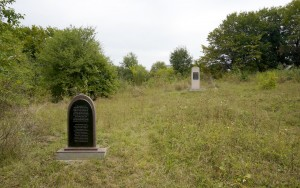 A view of the new Jewish cemetery, with monuments