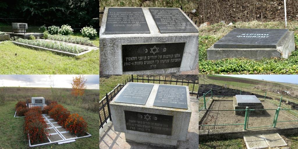 The mass grave memorials