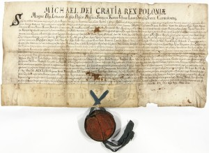 King Michał Korybut Wiśniowiecki grants new privileges to Rohatyn's Jews, 1669.