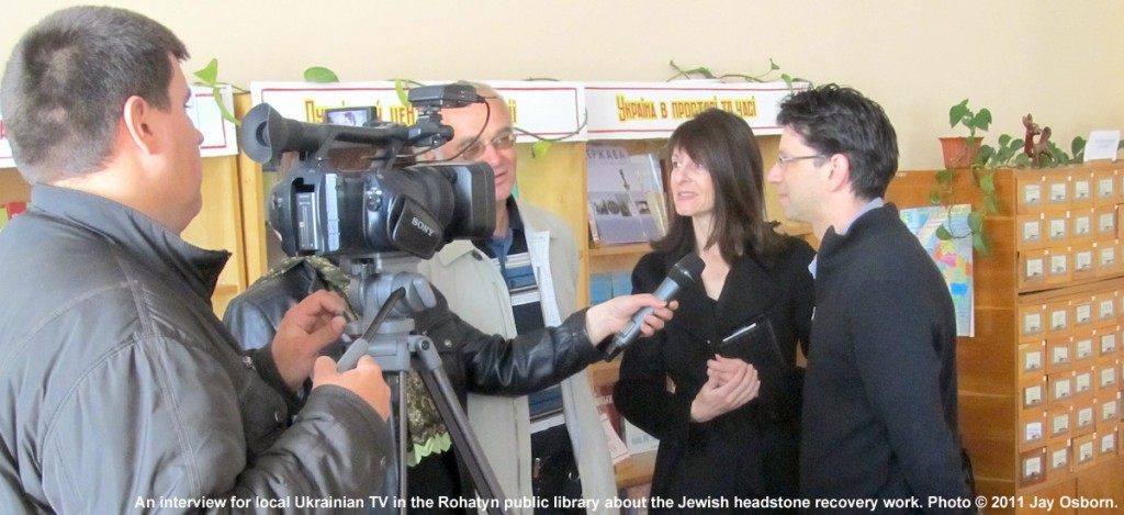 An interview for local Ukrainian television in 2011. Image © 2011 Jay Osborn.