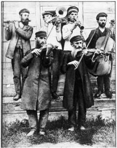 Klezmer musicians at a wedding
