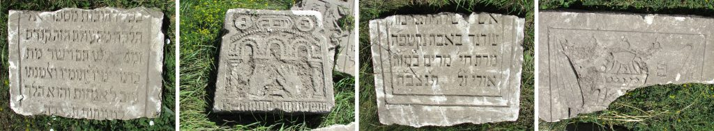 Another sample of the various headstone fragments