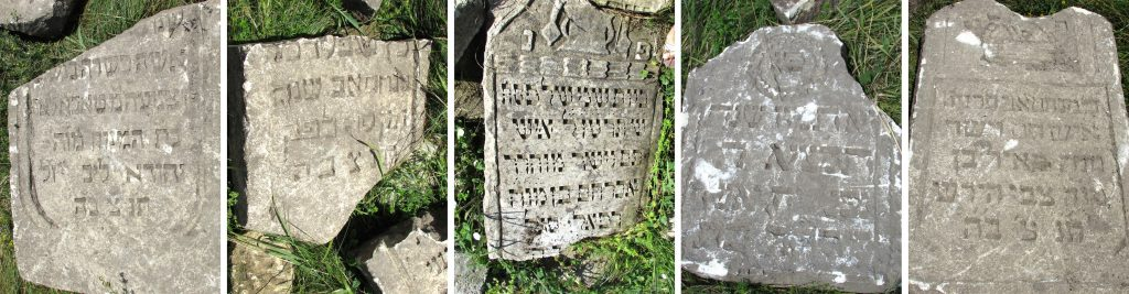 More headstone fragments