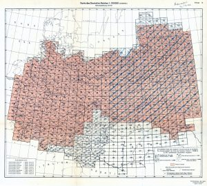 Index sheet to the wartime topographic map series