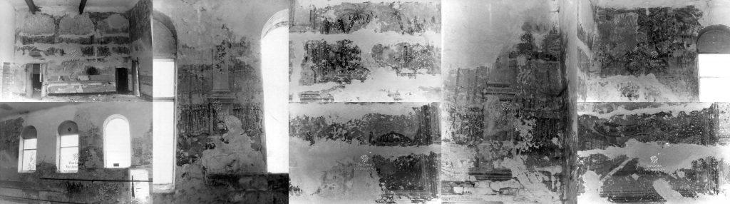 Wall murals in the Rohatyn beit midrash, in 1994